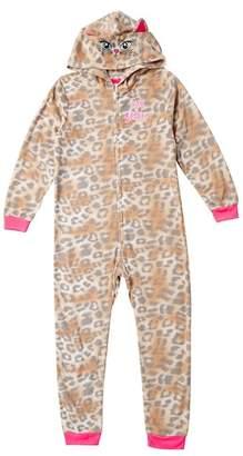 Betsey Johnson Animal Print Blanket Sleeper (Big Girls)