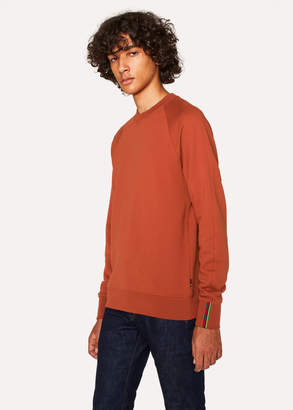 Paul Smith Men's Burnt Orange Cotton Raglan Sweatshirt