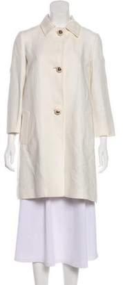 Kiton Linen Knee-Length Coat