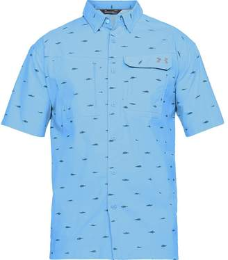 Under Armour Fish Hunter Short-Sleeve Plaid Shirt - Men's