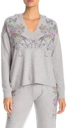 PJ Salvage Floral Hooded Sweatshirt