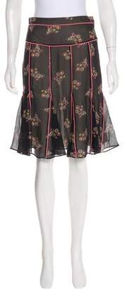 Marc by Marc Jacobs Silk Floral Skirt