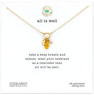 Dogeared ALL IS WEL HAMSA CLUSTER NECKLACE - GOLD