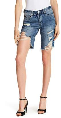 Blank NYC BLANKNYC Distressed Mid Rise Shorts