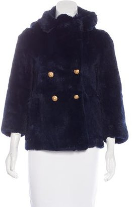 Boy. by Band of Outsiders Fur Pea Coat $595 thestylecure.com