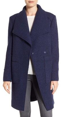 Women's Ellen Tracy Oversize Collar Boucle Coat $228 thestylecure.com