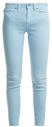Acne Studios Climb Mid Rise Skinny Leg Jeans - Womens - Light Blue