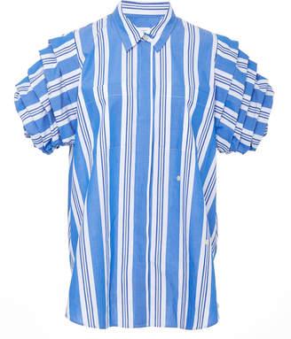 Stella Jean Striped Wrap Top