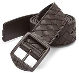 Bottega Veneta Patterned Leather Casual Belt