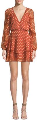 La Maison Talulah Love Token Polka-Dot Ruffle Short Dress