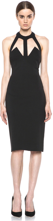 Cushnie et Ochs Oscar Jersey Dress in Black
