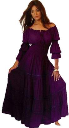 Lotustraders Ruffled Dress Peasant Smocked 3X A1290