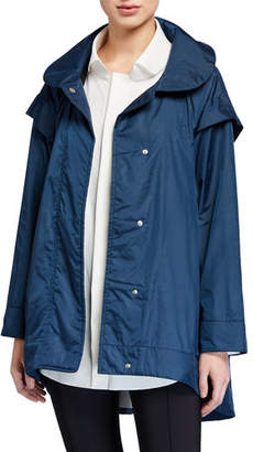 Chiara Boni Mantellina Button-Front High-Low Jacket