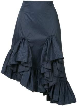 Marques Almeida Marques'almeida asymmetric frill skirt