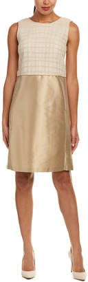 Lafayette 148 New York Paolo Silk-Blend Shift Dress