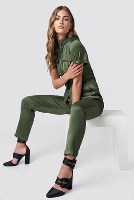 Glamorous Shortsleeve Jumpsuit Khaki