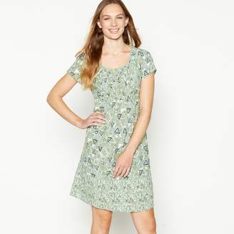 d992e57c33 Mantaray - Pale Green Triangle Tile Print Knee Length Skater Dress