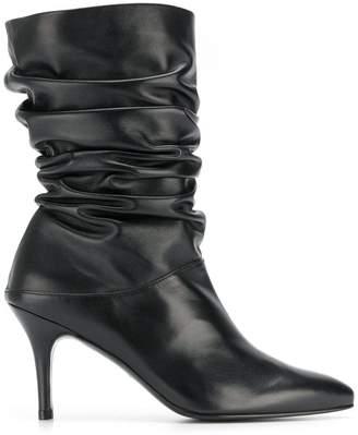 Stuart Weitzman Crush gathered ankle boots