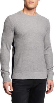 Theory Men's Winlo Wool Waffle-Knit Sweater