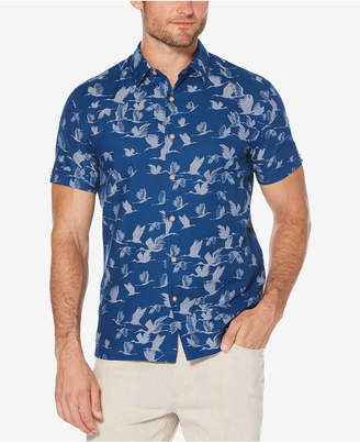 Cubavera Men's Slim-Fit Bird Print Shirt
