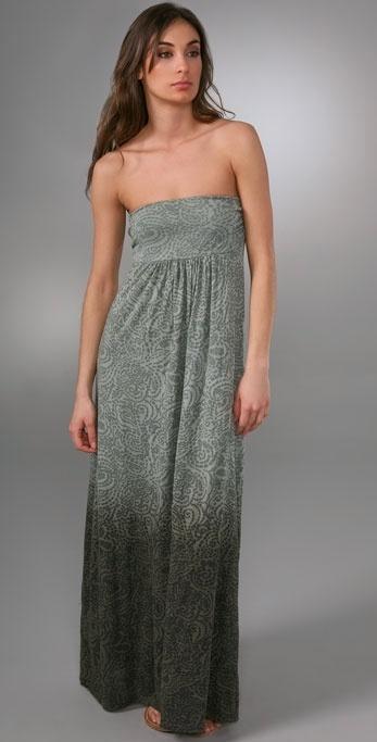 Splendid Pebble Ombre Strapless Long Dress