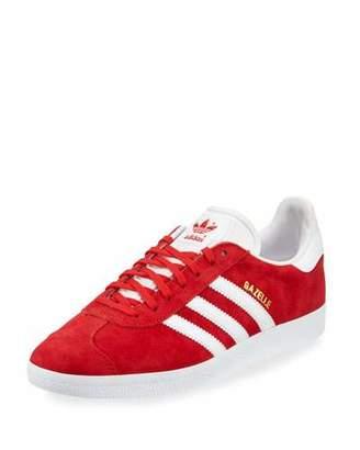 adidas Men's Gazelle Original Suede Sneaker, Red/White