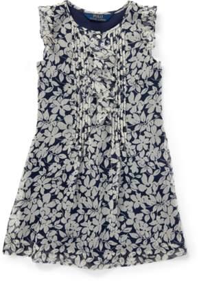 Ralph Lauren Ruffled Floral Chiffon Dress