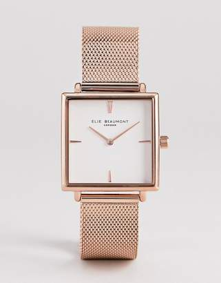 Beaumont Elie EB818.4 Watch With Rose Gold Case And Mesh Strap