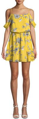 Bardot Venice-Print Sleeveless Blouson-Top Mini Dress