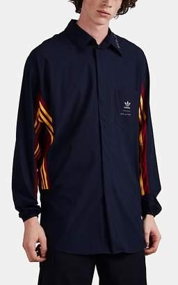adidas Men's Logo-Print Jersey Oversized Shirt - Navy