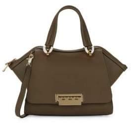 Zac Posen Small Eartha Leather Tote Crossbody Bag