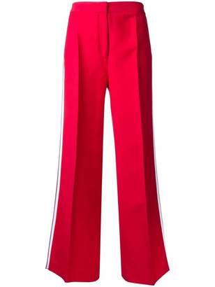 Fendi side stripe flared trousers