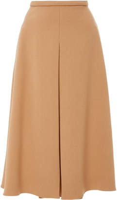 Rochas A-Line Wool and Silk-Blend Midi Skirt