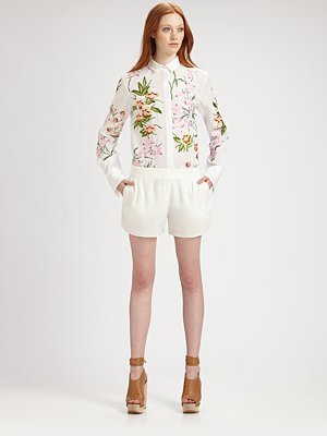 Cotton Floral Blouse