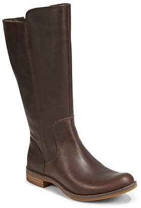 Timberland Round Toe Leather Tall Boots