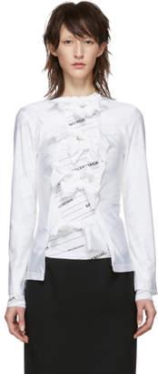 Comme des Garcons White Multiple Bow Tie Long Sleeve T-Shirt