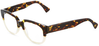 A. J. Morgan Decision Two-Tone Square Readers, Tortoise/Pearl $36 thestylecure.com