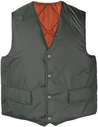 Our Legacy press stud padded waistcoat