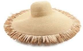 Eric Javits Floppy Fringe Straw Sun Hat