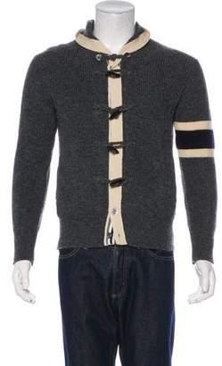 Thom Grey Wool Shawl Cardigan