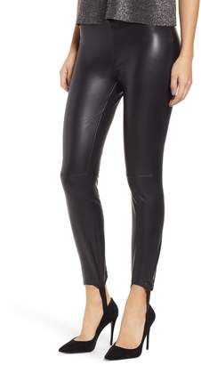 Blank NYC BLANKNYC Faux Leather Stirrup Leggings