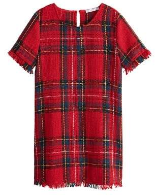 MANGO Plaid tweed dress
