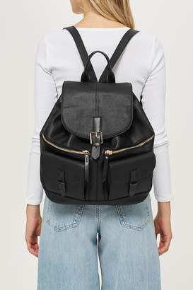 Topshop Double Pocket Backpack