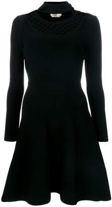 Fendi flared fitted dress