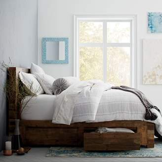 west elm Emmerson® Reclaimed Wood Storage Bed - Natural