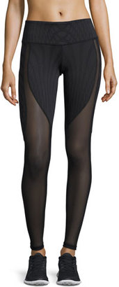Alo Yoga Motion Mesh-Panel Sport Leggings $110 thestylecure.com