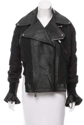 Sacai Leather Quilted Jacket w/ Tags
