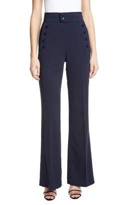 Equipment Button Detail Wide Leg Trousers