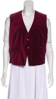 Etro Printed Velvet Vest w/ Tags
