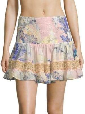 Camilla Short Shirred A-Line Skirt